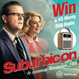 WIN a VQ Monty digital radio with Suburbicon - In Cinemas November 24th